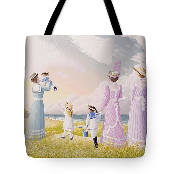 A Stroll On The Dunes Tote Bag by Peter Szumowski
