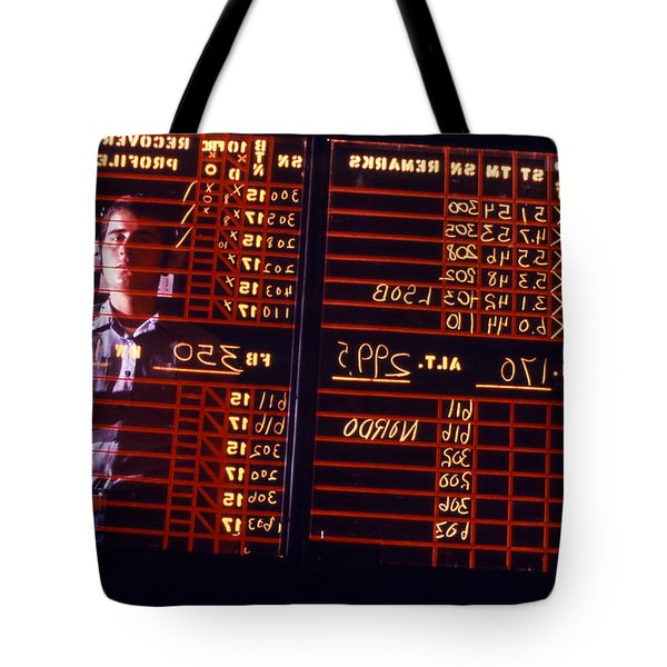A Student Learns To Write Backwards Tote Bag by Michael Wood