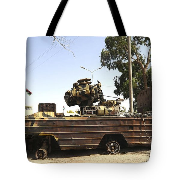 A Surface-to-air Missile Air Defense Tote Bag by Andrew Chittock