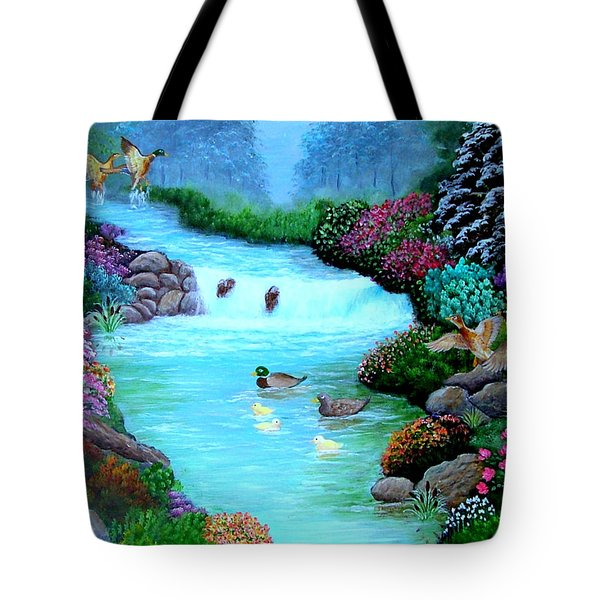 Tote Bag featuring the painting A Taste Of Heaven by Fram Cama