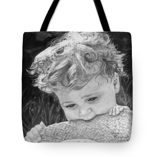 Tote Bag featuring the drawing A Taste Of Summer by Ana Tirolese