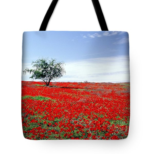 A Tree In A Red Sea Tote Bag