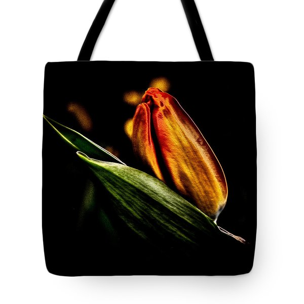 A Tulip With Sheen Tote Bag by David Patterson