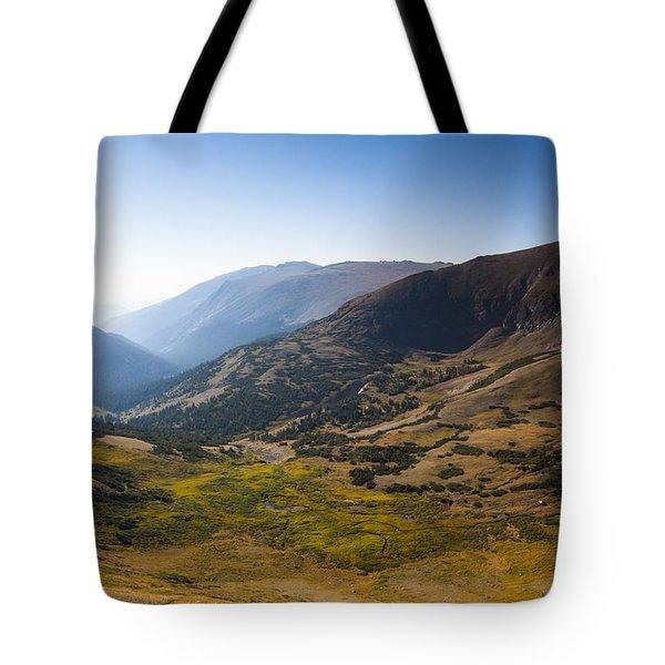 A Tundra Valley In The Colorado Rockies Tote Bag by Ellie Teramoto