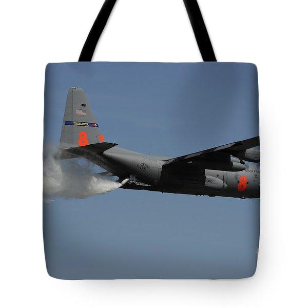 A U.s. Air Force C-130 Hercules Tote Bag by Stocktrek Images