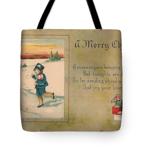 A Very Merry Christmas Tote Bag by Angela Wright