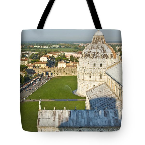 A View From The Bell Tower Of Pisa  Tote Bag