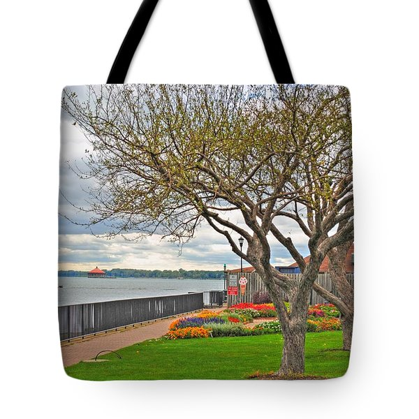 Tote Bag featuring the photograph A View From The Garden by Michael Frank Jr