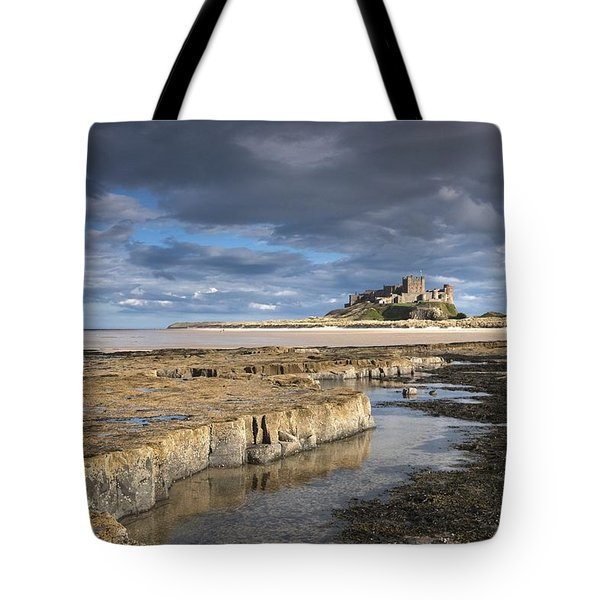 A View Of Bamburgh Castle Bamburgh Tote Bag by John Short