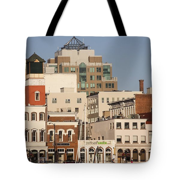 A View Of The Skyline Of Victoria Tote Bag by Taylor S. Kennedy