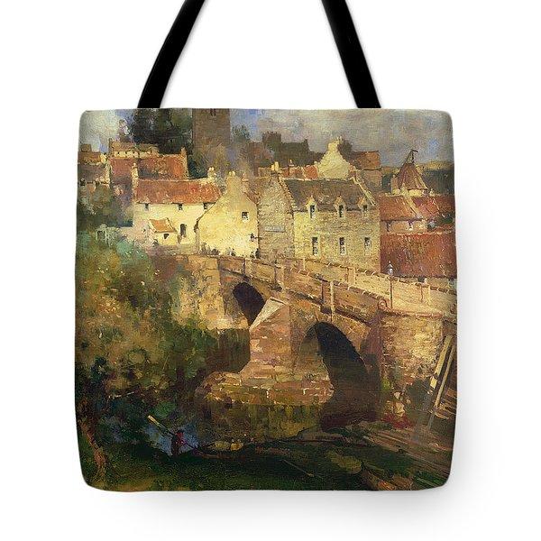 A Village In East Linton Haddington Tote Bag by James Paterson