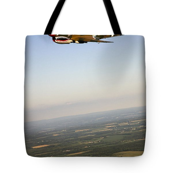 A Vintage World War II P-40n Fighter Tote Bag