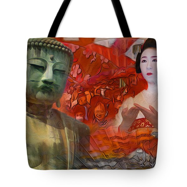 A Vision Of The History Of Japan  Tote Bag
