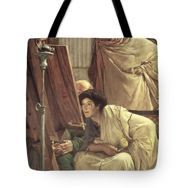 A Visit To The Studio Tote Bag by Sir Lawrence Alma-Tadema