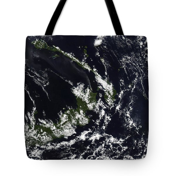A Volcanic Plume From The Rabaul Tote Bag by Stocktrek Images