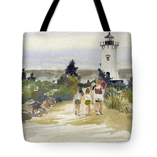 A Walk To Edgartown Light Tote Bag