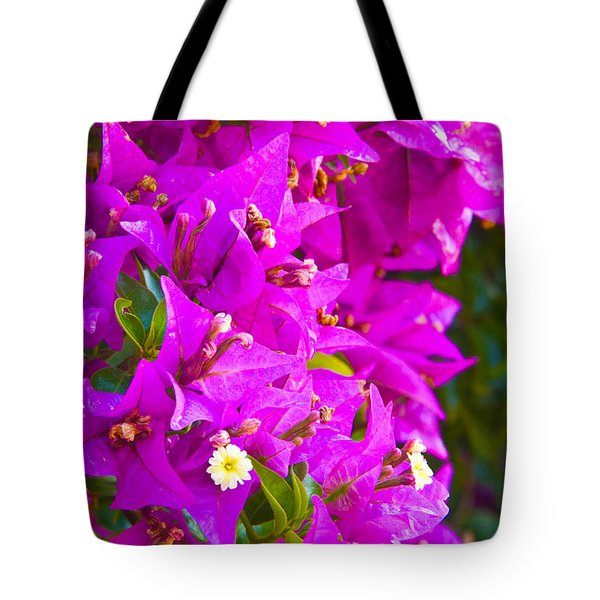 A Wall Of Flowers Tote Bag