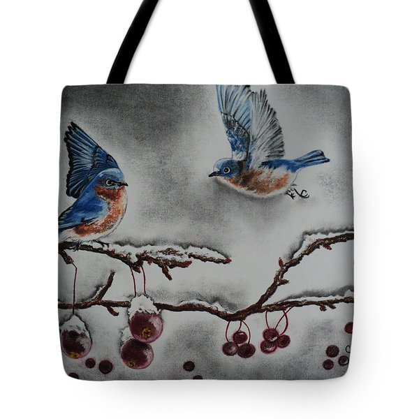 A Warm Winter Welcome Tote Bag by Carla Carson
