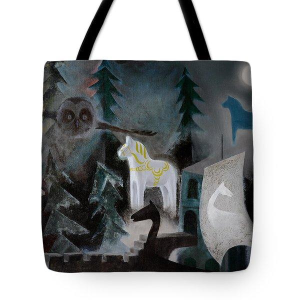 A White Horse Tote Bag by Jukka Nopsanen