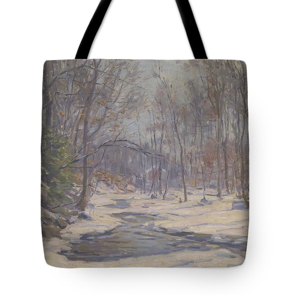 A Winter Morning  Tote Bag by Frank Townsend Hutchens