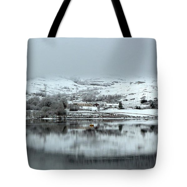 Tote Bag featuring the photograph A Winter's Scene by Lynn Bolt