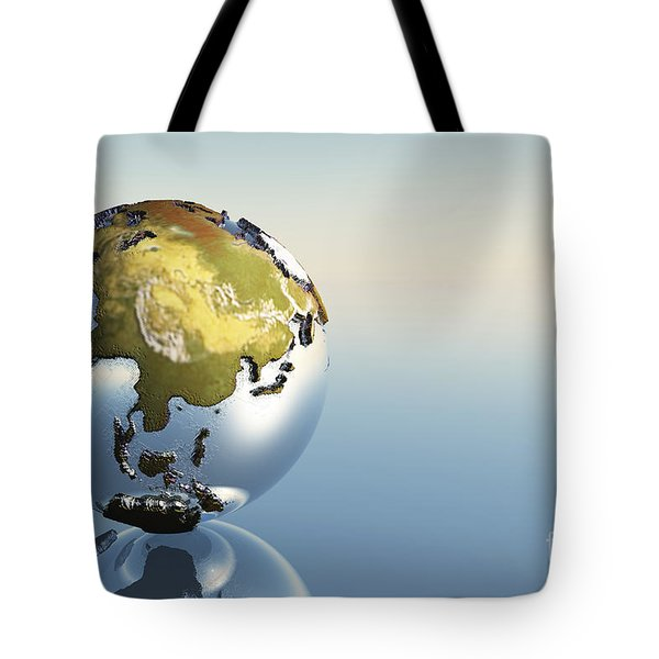 A World Globe Showing The Continents Tote Bag by Corey Ford