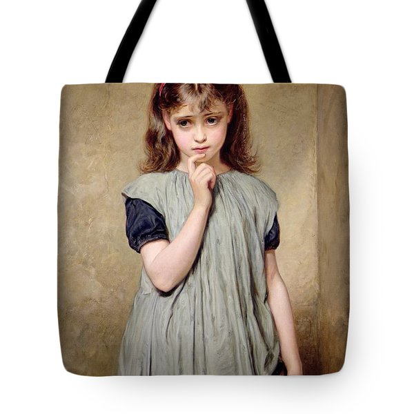 A Young Girl In The Classroom Tote Bag by Charles Sillem Lidderdale