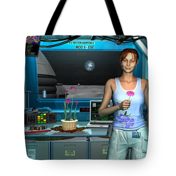 A Young Radio Astronomer Stationed Tote Bag by Walter Myers