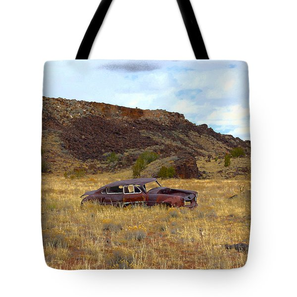 Tote Bag featuring the photograph Abandoned Car by Steve McKinzie