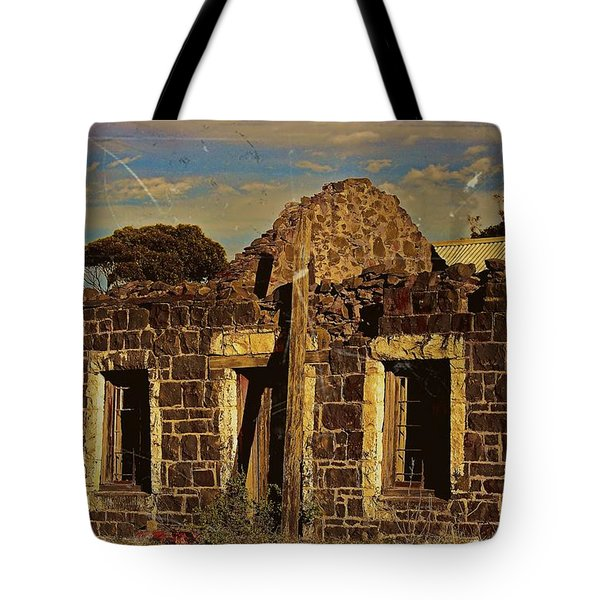 Tote Bag featuring the digital art Abandoned Farmhouse by Blair Stuart