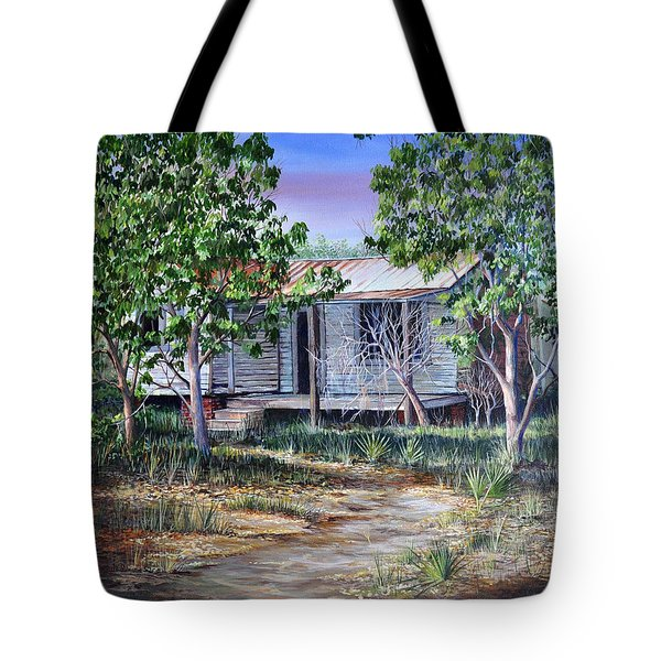 Tote Bag featuring the painting Abandoned House by AnnaJo Vahle