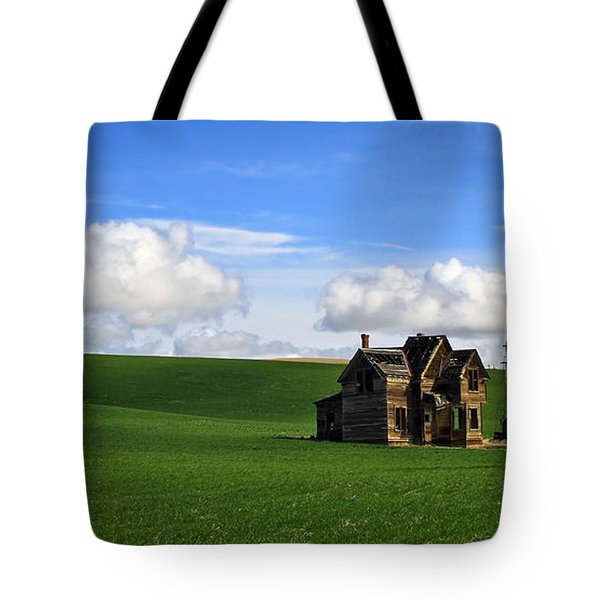 Abandoned House On Green Pasture Tote Bag by Steve McKinzie