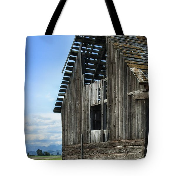 Abandoned Montana Barn Tote Bag by Sandra Bronstein