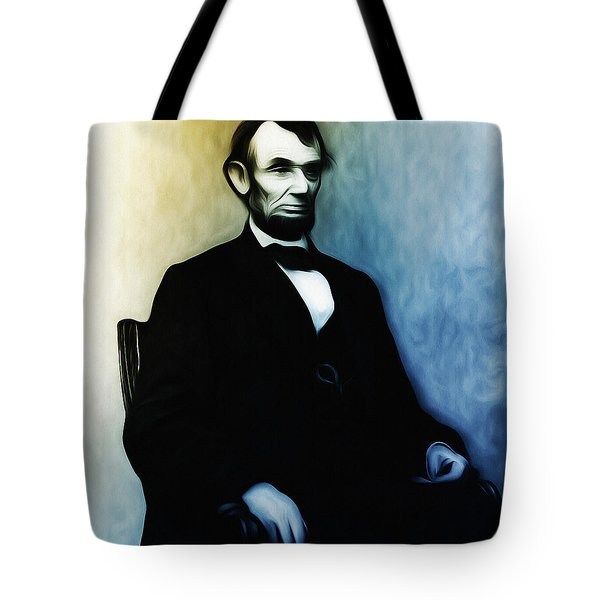 Abe Lincoln Seated Tote Bag by Bill Cannon