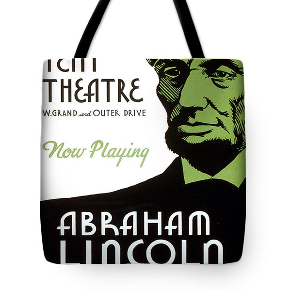 Abe Lincoln Wpa Poster Tote Bag by Paul Van Scott