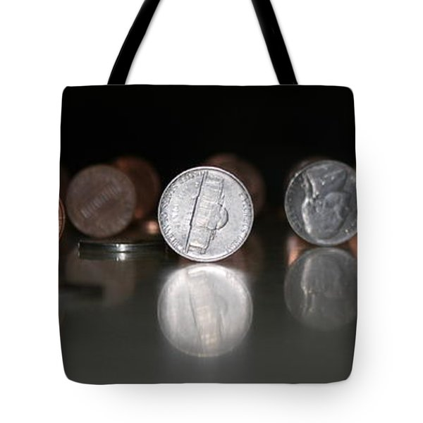 Tote Bag featuring the photograph Abe Vs Jefferson Panorama by Patrick Witz