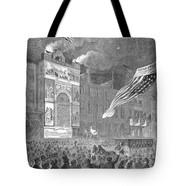 Abolition Of Slavery, 1864 Tote Bag by Granger