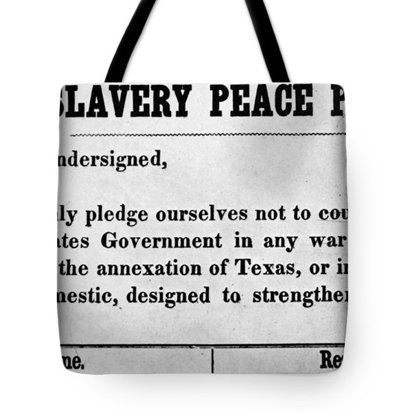 Abolitionist Peace Pledge Tote Bag by Granger