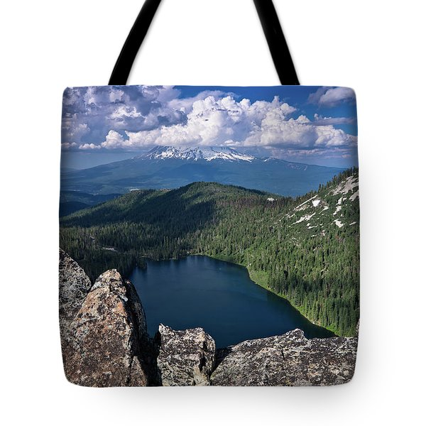 Above Castle Lake Tote Bag