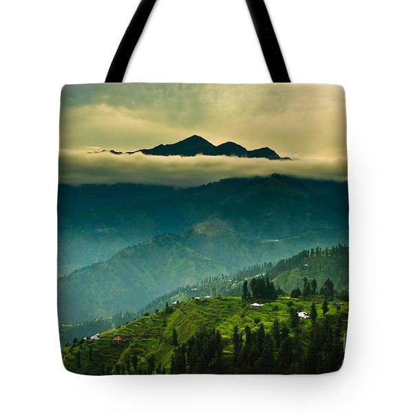 Above Clouds Tote Bag by Syed Aqueel