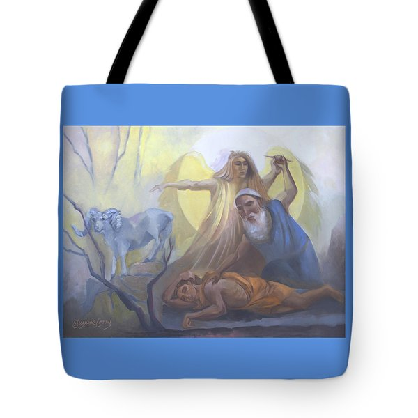 Abraham And Issac Test Of Abraham Tote Bag