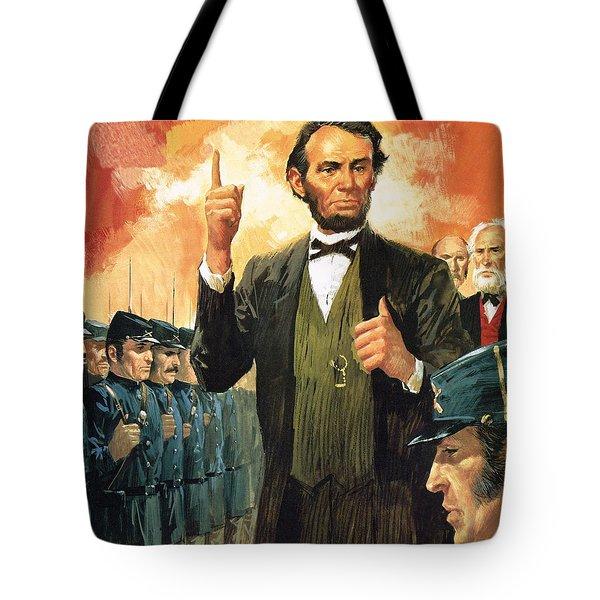 Abraham Lincoln Tote Bag by English School