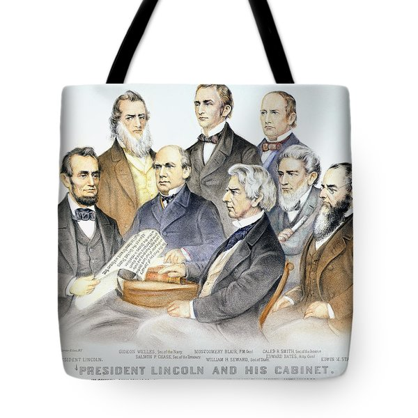 Abraham Lincolns Cabinet Tote Bag by Granger