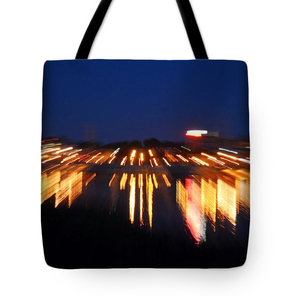 Abstract - City Lights Tote Bag by Sue Stefanowicz