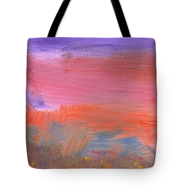 Abstract - Guash - Lovely Meadows 2 Of 2 Tote Bag by Mike Savad
