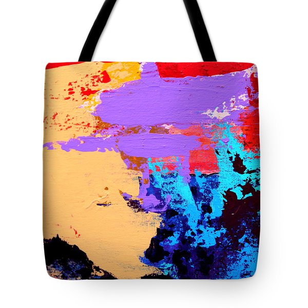 Tote Bag featuring the painting Abstract 1 by M Diane Bonaparte