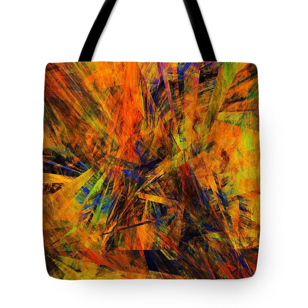 Abstract 100611 Tote Bag by David Lane