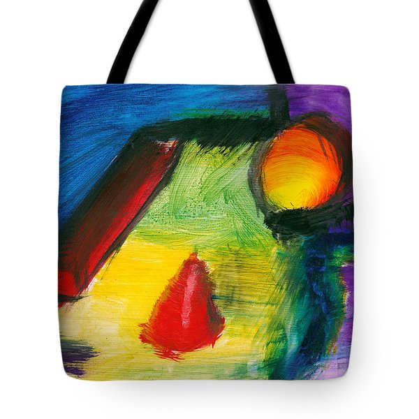 Abstract - Acrylic - Primitives Tote Bag by Mike Savad