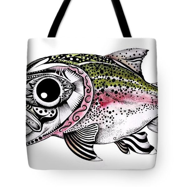 Abstract Alaskan Rainbow Trout Tote Bag by J Vincent Scarpace