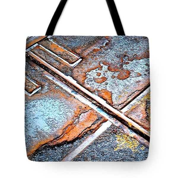 Abstract Among Us Tote Bag by Gwyn Newcombe